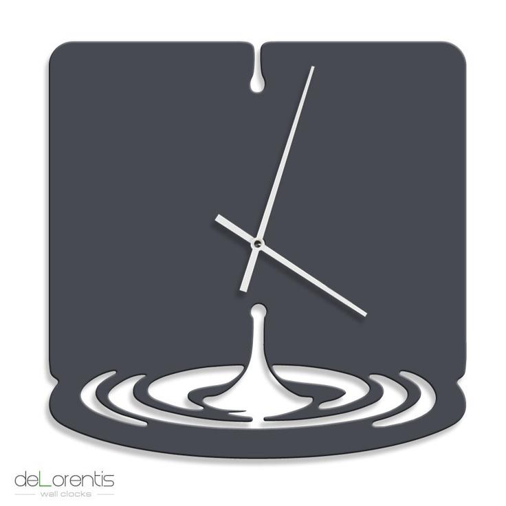 clock WATERDROP - Laser cutting design