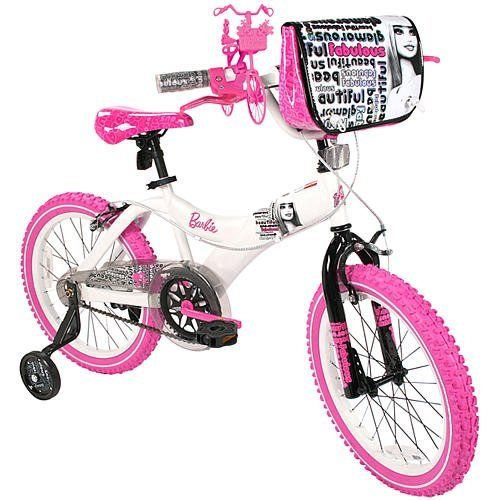 Barbie 18 inch Girls Bike: http://www.amazon.com/Barbie-18-inch-Girls-Bike/dp/B00488UWMG/?tag=koraimultimed-20