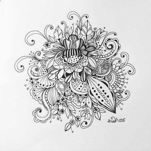Zentangle zendoodle art pen and ink