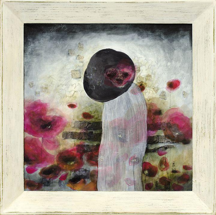 50/50 cm mixed media/canvas Introspection 2014