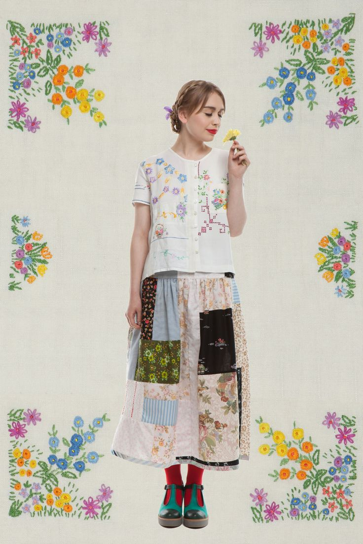 Lu Flux gees bend collection - i love the simple top and patchwork skirt, too! via CalPatch