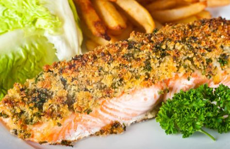 Σολομός σε τραγανή κρούστα - Salmon in crispy crust | Smile Greek