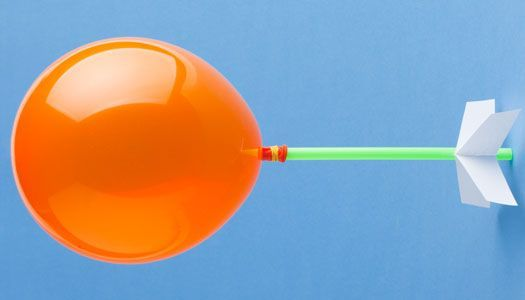 Make your own balloon rocket, then 3 ...2 ...1 ...blastoff!