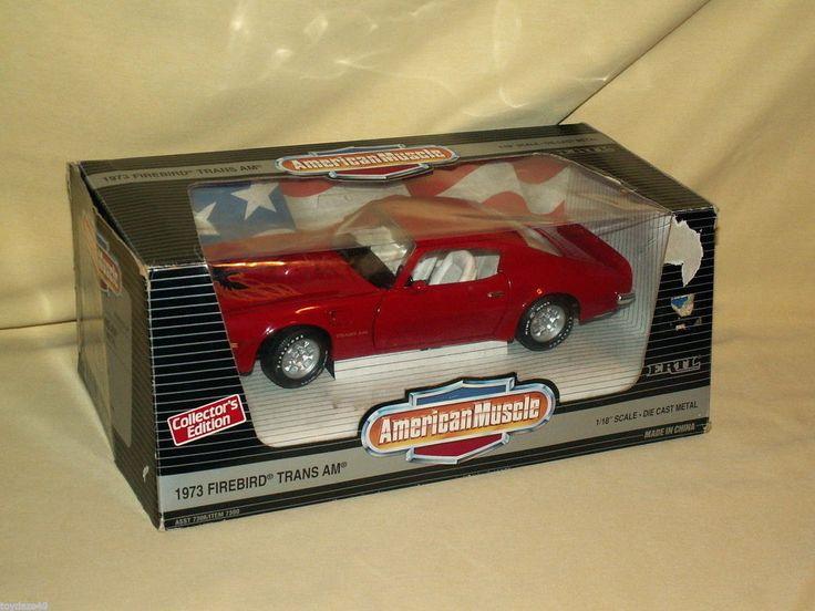 FIRE BIRD TRANS AM SD 455 ERTL AMERICAN MUSCLE RED 1973 V8 DIE CAST 1995 7306 #Ertl #Pontiac