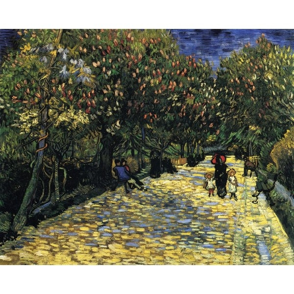 Avenue with Flowering Chestnut Trees VanGogh Oil Painting for sale on overArts.com