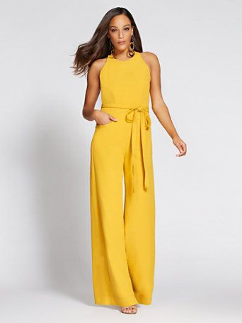 92e2f7033f50 Shop Gabrielle Union Collection - Wide-Leg Halter Jumpsuit. Find your  perfect size online at the best price at New York   Company.