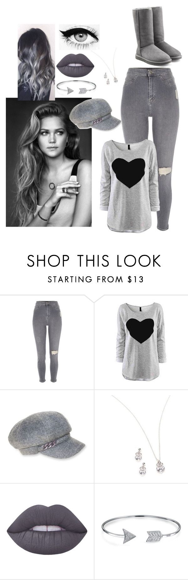 """""""#Grey"""" by chrissy102 ❤ liked on Polyvore featuring River Island, Eyeko, Nine West, Kim Rogers, Lime Crime, Bling Jewelry and UGG Australia"""
