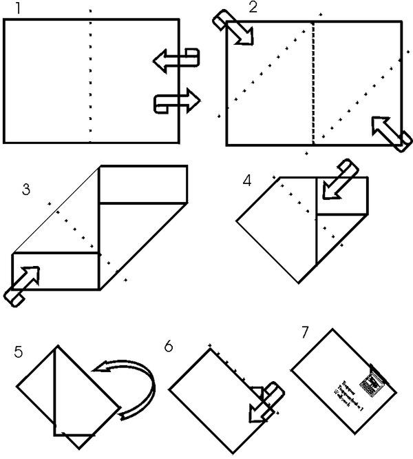 Как сложить бумагу в открытку