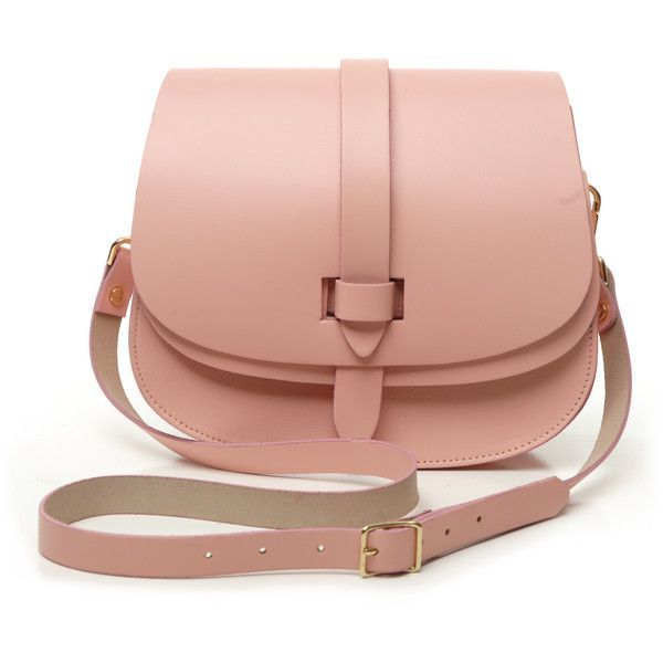 pink arlington saddle bag by lost property of london ($210) ❤ liked on Polyvore featuring bags, handbags, shoulder bags, leather crossbody purse, red leather handbag, pink leather purse, red leather purse and saddle bags