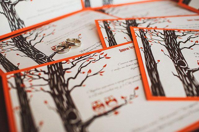 Свадьба Виталия и Марии: осенний лес