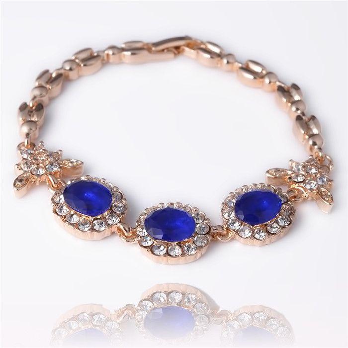 Винтажный ювелирные изделия Colorful австрийский кристалл браслеты для женщины день рождения Gifr