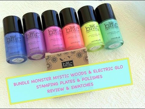Bundle Monster Mystic Woods & Electro Glo - Review & Swatches - YouTube