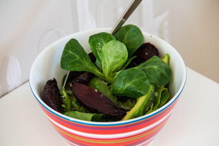 Зелёный детокс салат со свеклой