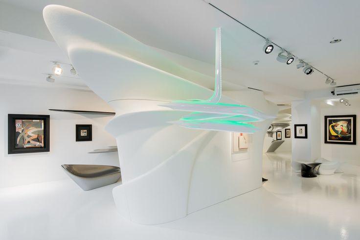 The architect's installation at Galerie Gmurzynska in Zurich was created in homage to the influential Dadaist artist.