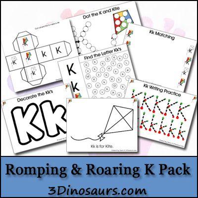 Free Romping & Roaring K Printable Pack