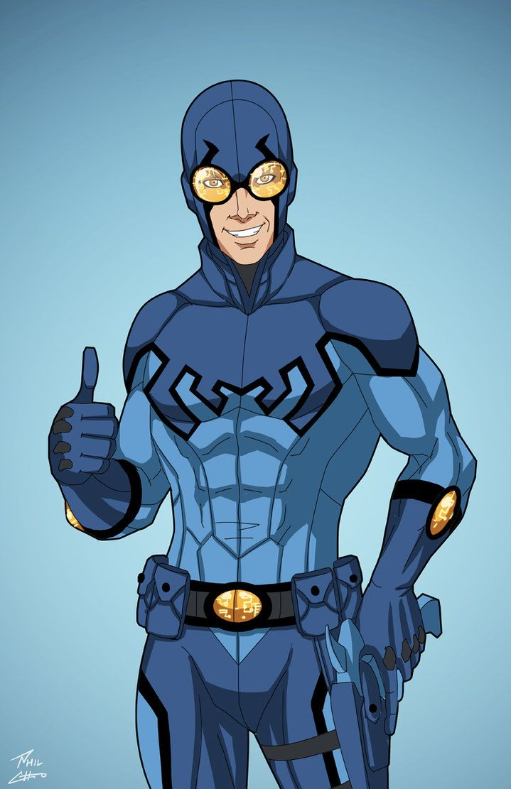 Blue Beetle (Earth-27) commission by phil-cho on DeviantArt
