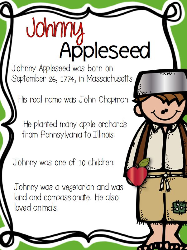 25+ best ideas about Johnny appleseed on Pinterest ...