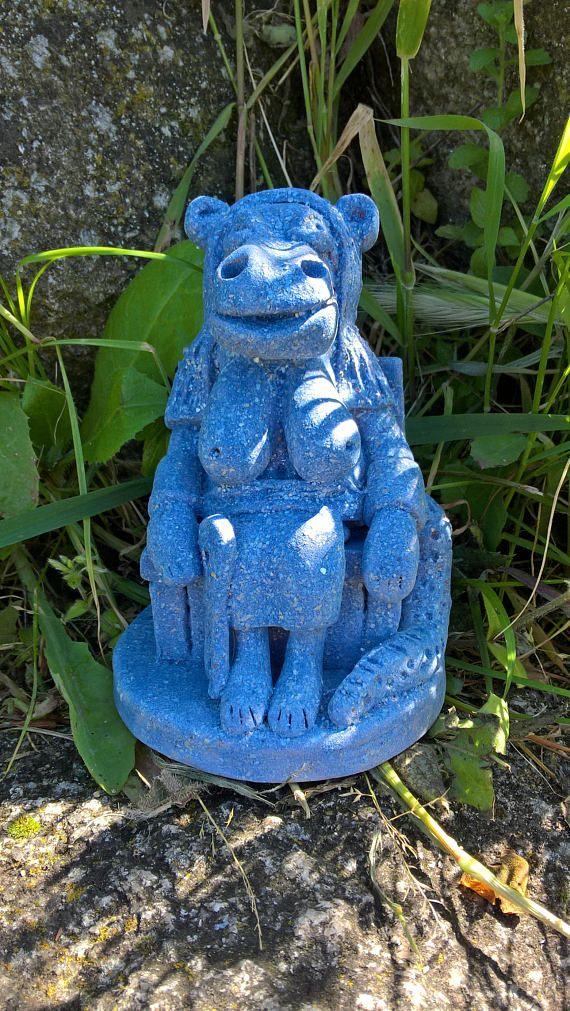 Ceramic Egyptian Godess Statue Taweret / Ceramic Egyptian Godess of Childbirth and Fertility / Taurt / Ta-weret / Tawaret / Taueret