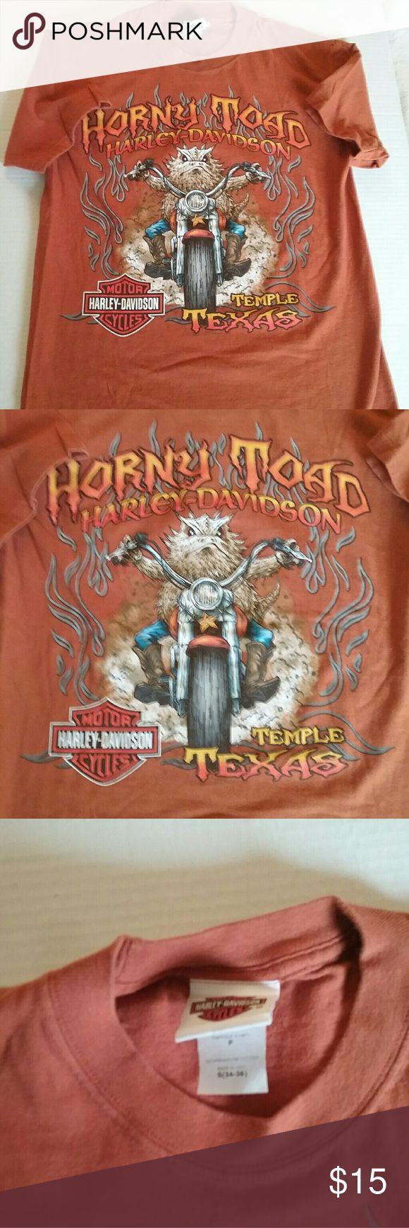 Shirt design killeen tx - Horny Toad Harley Davidson Temple Texas Shirt
