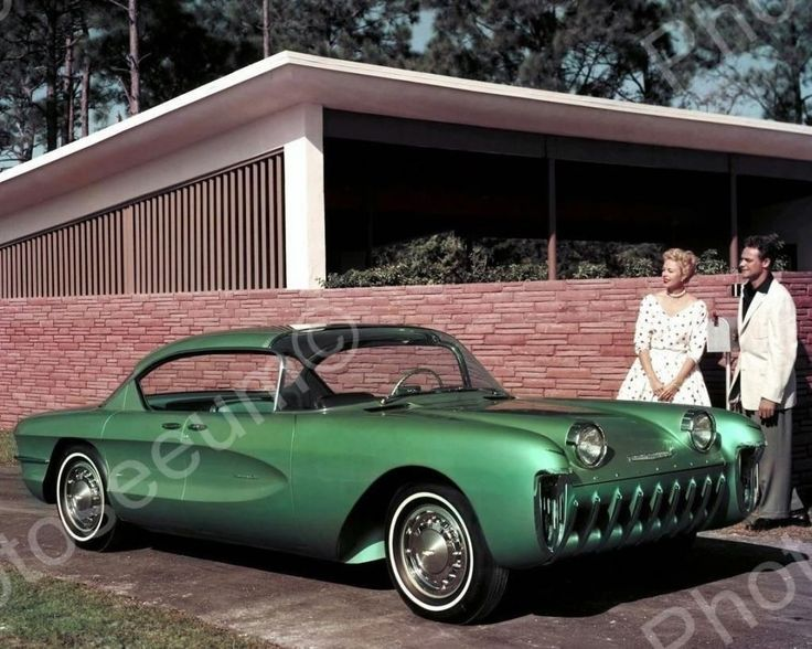 Chevrolet Biscayne Automobile 1955 Vintage 8x10 Reprint Of Old Photo