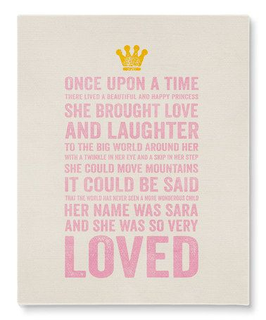 Love This U0027Happy Princessu0027 Personalized Wrapped Canvas On #zulily!  #zulilyfinds