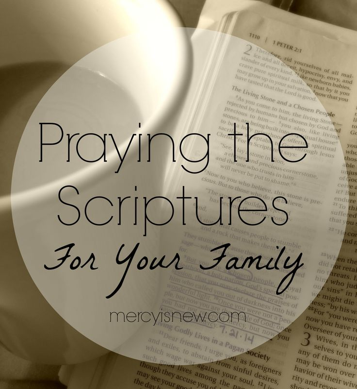 Praying the Scriptures For Your Family // includes printables & audio prayers. LOVE.