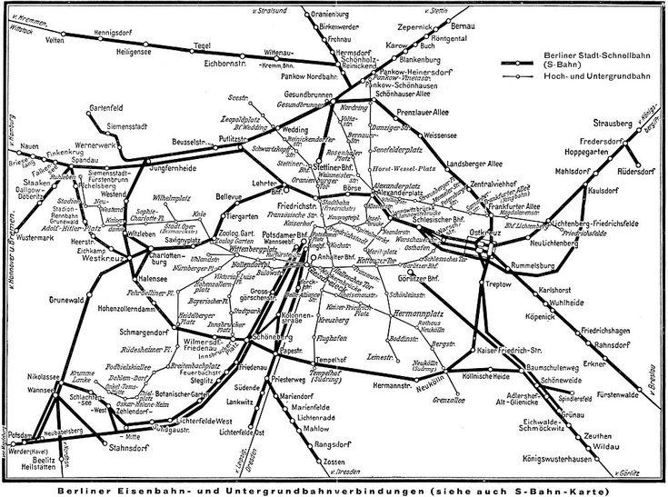 Berliner Eisenbahn Und Untergrundbahnverbindungen 1936