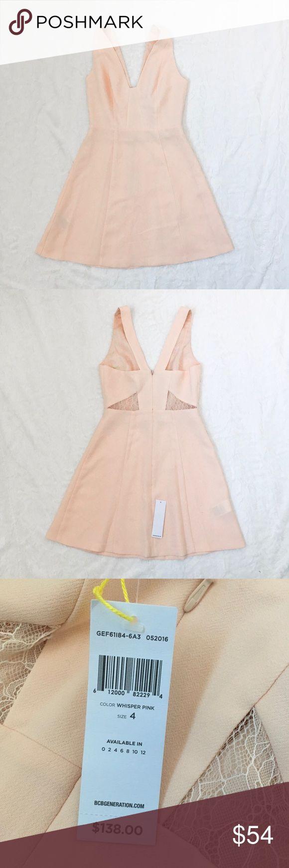 BCBG Peach Lace Dress - BCBGeneration - size 4 - NWT - peach color BCBGeneration Dresses Mini