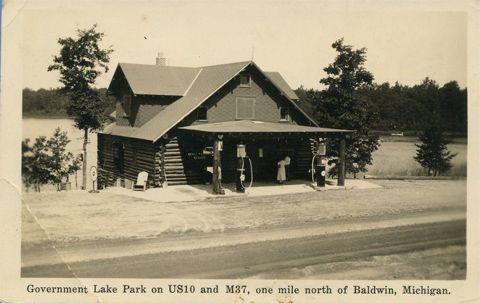 Baldwin Michigan   ... Lake Park on US 10 and M 37, One Mile North of Baldwin Michigan