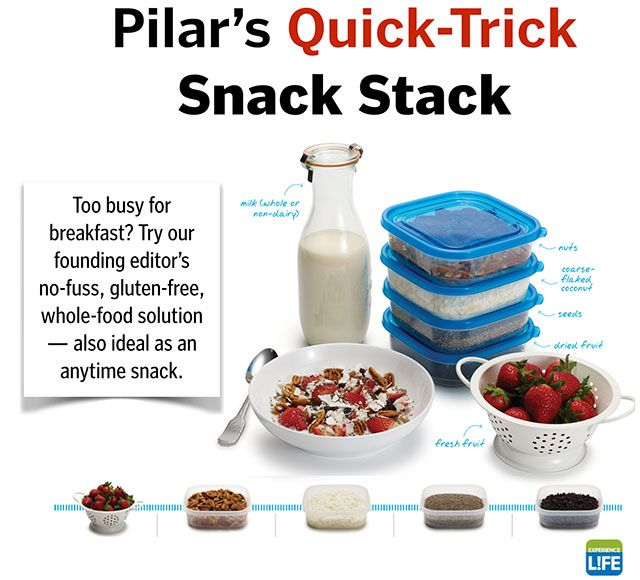 This has become my go-to breakfast: Pilar's Quick-Trick Snack Stack from @explifemag founding editor @pgerasimo.
