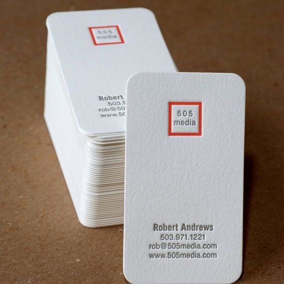 Letterpress Business Card Set  Modern Square