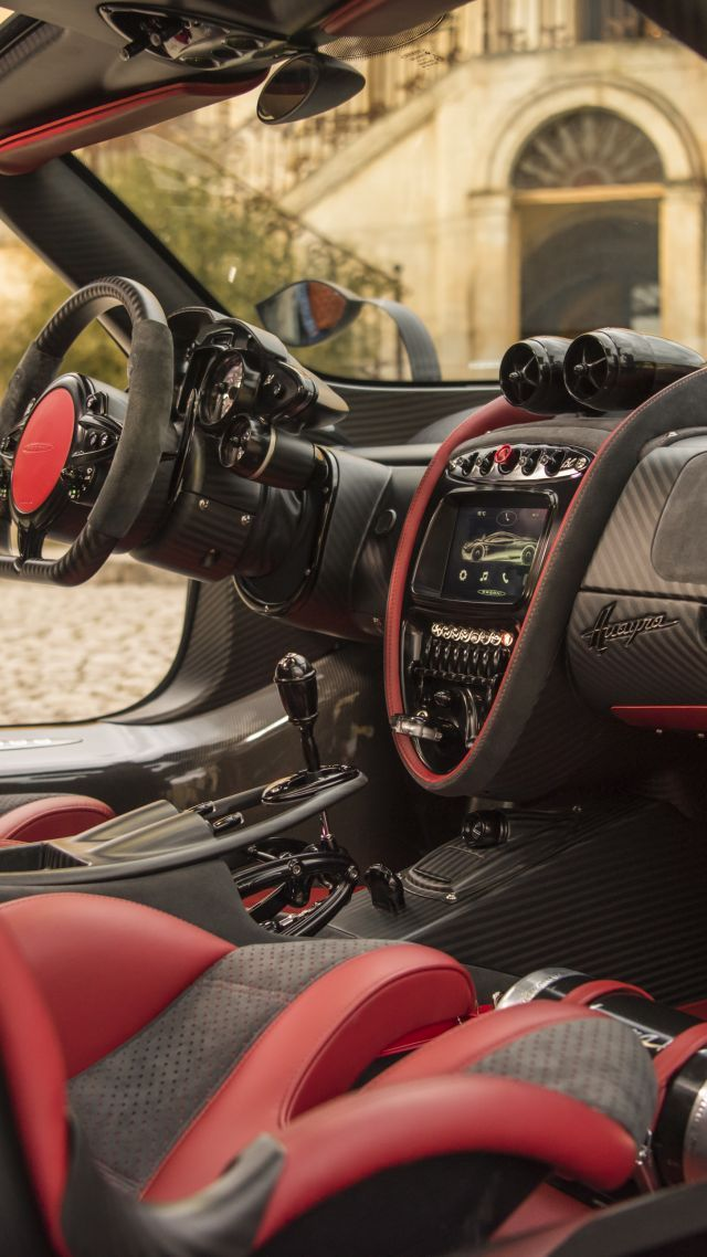 Pagani Huayra BC, Geneva Auto Show 2016, ultra-light super car, sport car, interior