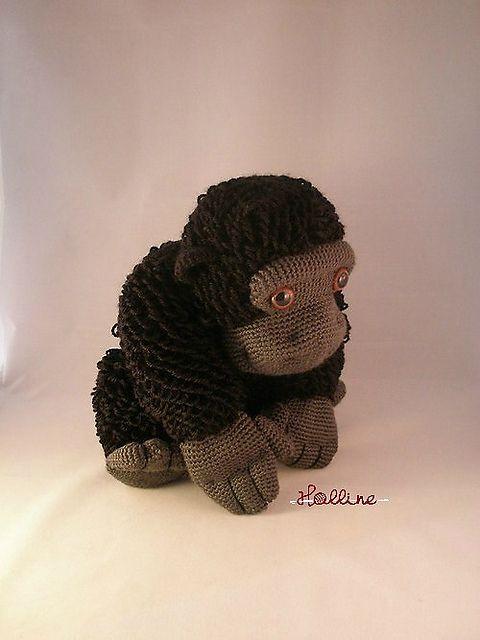 Bokito the Gorilla, zoo animal, crochet Gorilla, Gorilla crochet pattern