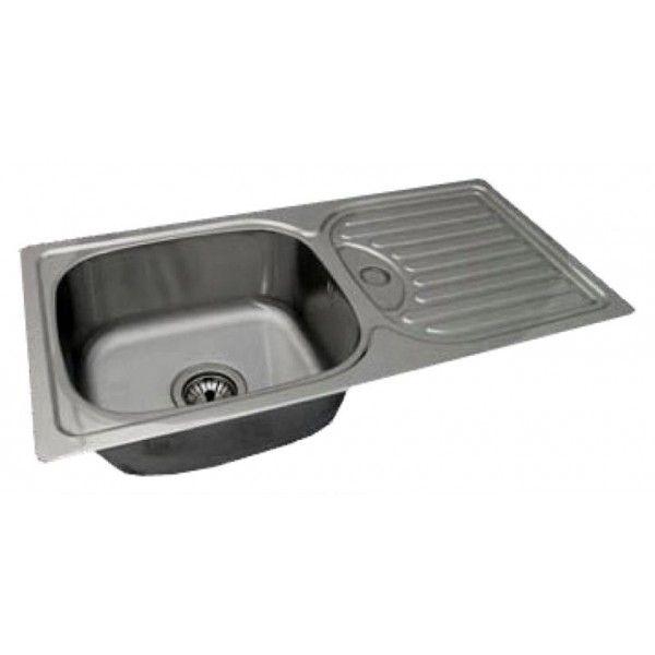 Мойка кухонная стальная врезная Hardy Atoll 430х850 мм, 0,8 мм