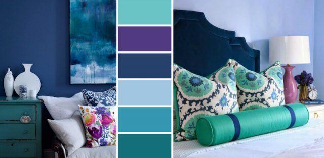 chambre-bleu-canard-sarcelle-violet-palette-couleurs-realisation-chic