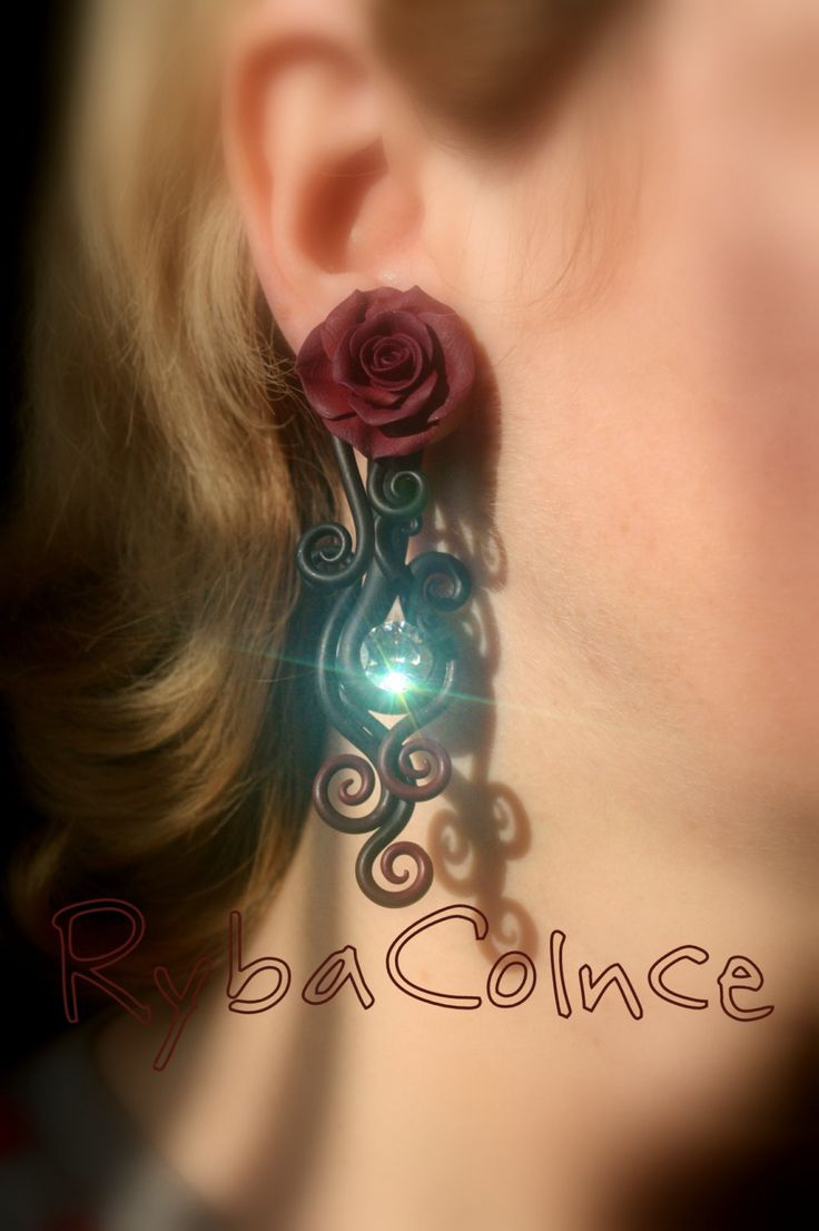 Fake Piercing The Of Bordeaux Roses