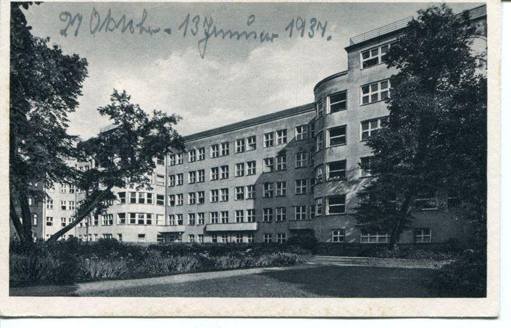 AK Königsberg (Pr) Kaliningrad Krankenhaus der Barmherzigkeit Gartenseite