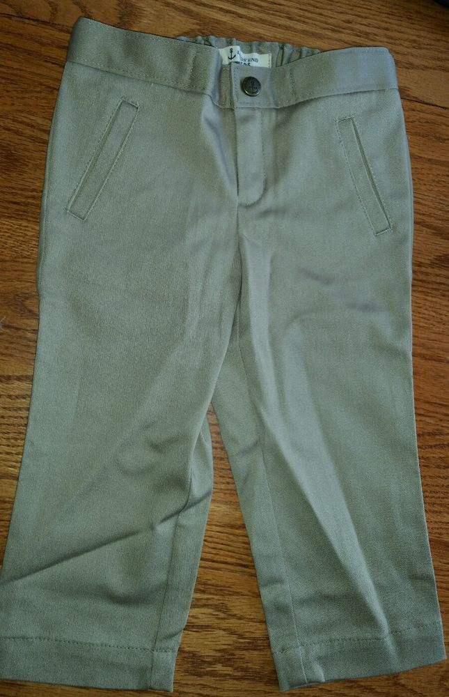 Girl Land's End School Uniform Capris Summer Adjustable Khaki Stretch Cotton 5 #LandsEnd #Capri