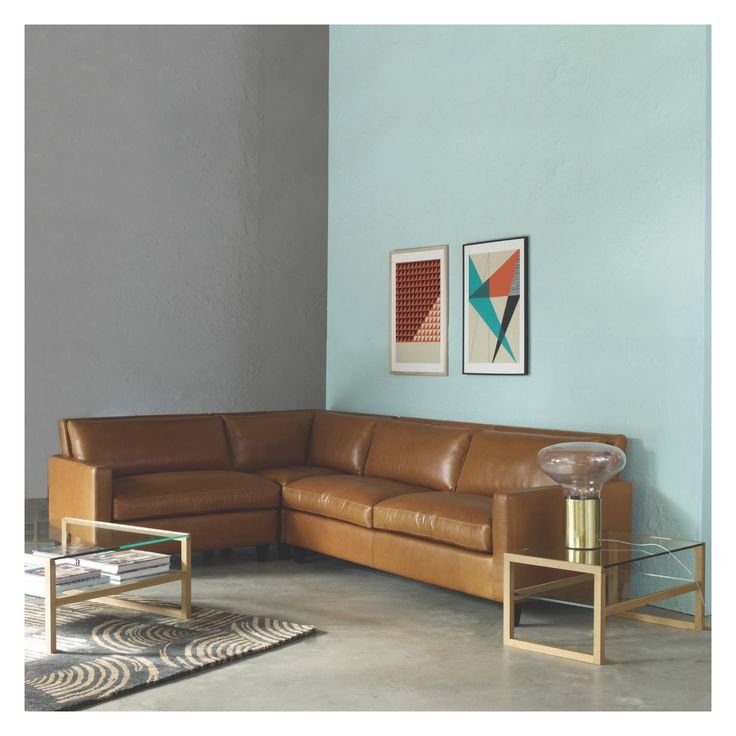 CHESTER Natural fabric left-arm corner sofa, oak stained feet | Buy now at Habitat UK