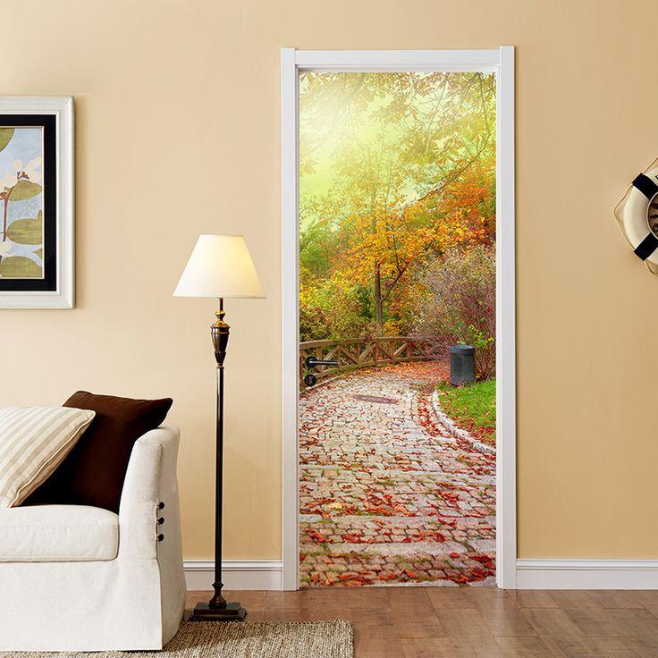 17 best door wall sticker images on Pinterest   Door wall, Murals ...