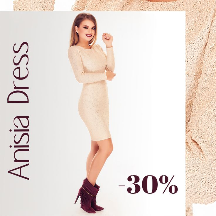 Casual chic dress with 30% off discount, today: https://missgrey.org/en/dresses/midi-day-dress-with-long-sleeves-in-beige-shades/419?utm_campaign=noiembrie&utm_medium=rochie_anisia_bej&utm_source=pinterest_produs