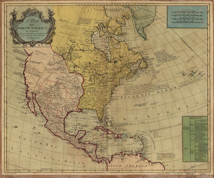 A map of North America in 1765