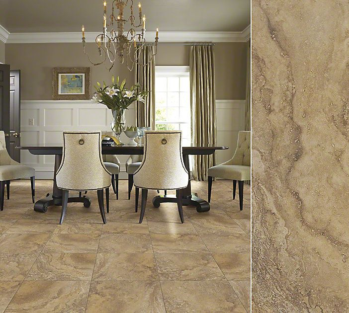 Colors Floors And White Tile Floors On Pinterest: Shaw Ceramic In A Beautiful Undiluting Travertine Visual