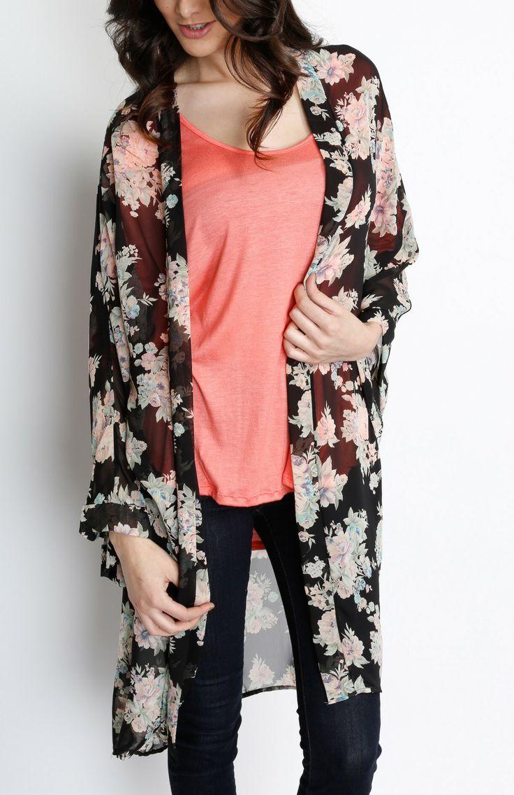 58 best Kimono images on Pinterest   Kimonos, Floral kimono and ...