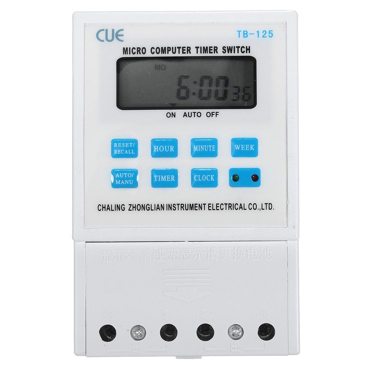 220v 25a Lcd Digital Micro Computer Programmable Time Clock Timer Switch Relay. Description:  	   	220V 25A LCD Digital Micro Computer Programmable Time Clock Timer Switch Relay  	   	Features:   	   	This product automatically switch on/off the power of electric appliances and instruments according to the time set by user. 	It could control the street lamp, neon light, ad led light, factory production equipments, radio & TV devices which are required to open/stop.  	   	Specification:  	…