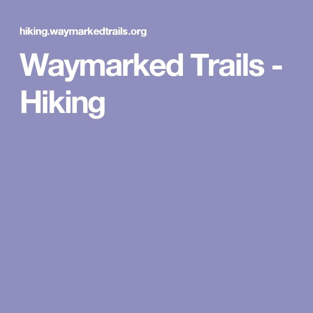 Waymarked Trails - Hiking