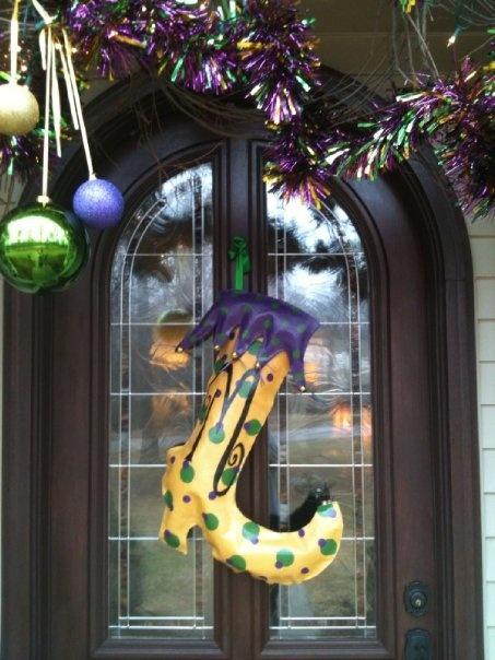 Mardi Gras Jester Boot  Door Decoration