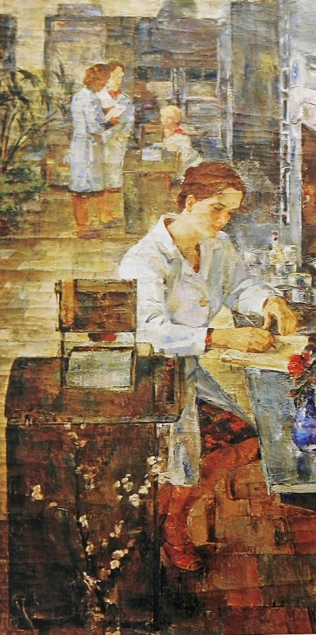 Боровский Николай Степанович :На фабрике  Год:1960