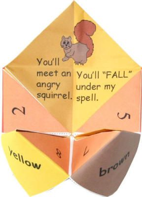 Autumn Fortune Teller - possible idea for Halloween party craft, or take and make
