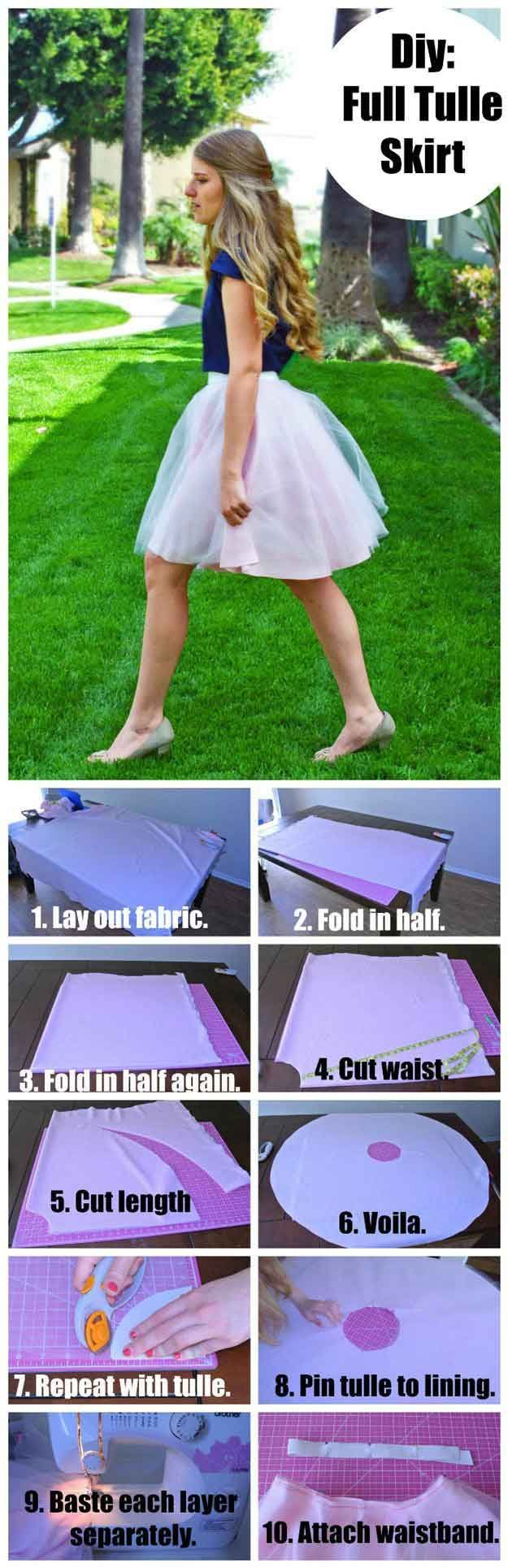 DIY Full Tulle Skirt   DIY Skirts and Pants for Women
